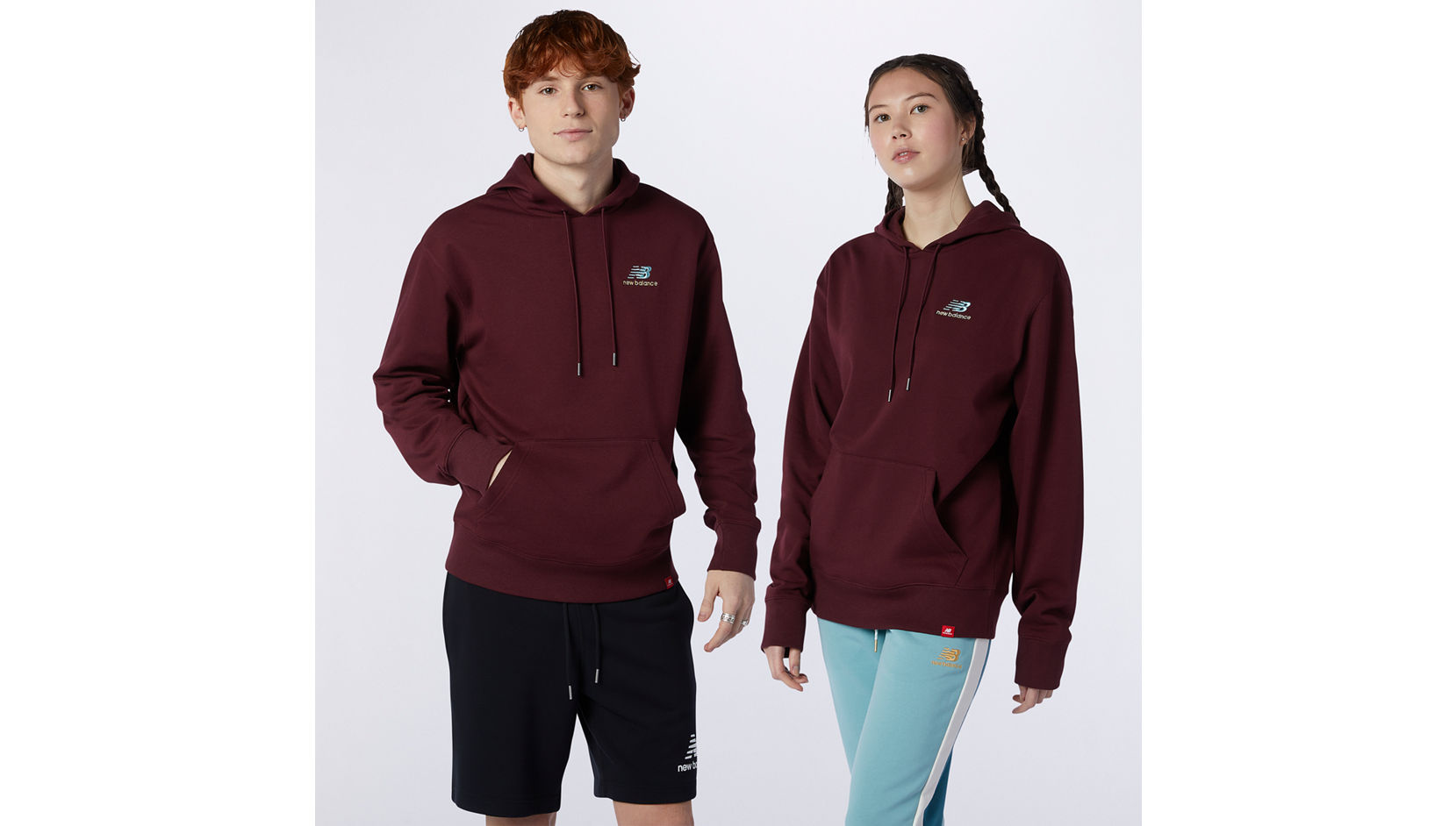 Толстовка Essentials Embroidered Hoodie New Balance MT11550/NBY