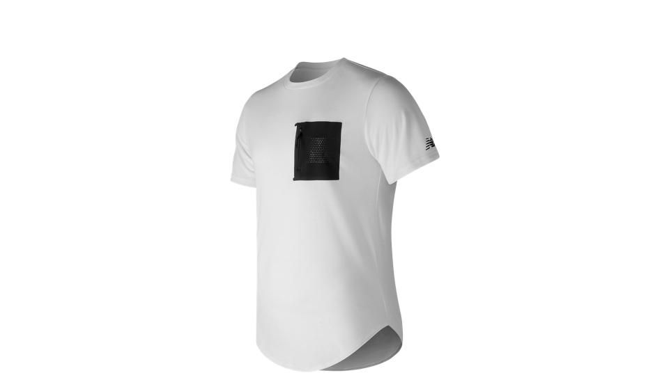 248 Sport Pocket Tee contrast panel chest pocket tee